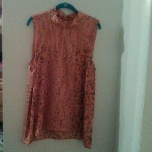 Brand new lace tank with lace middle panel